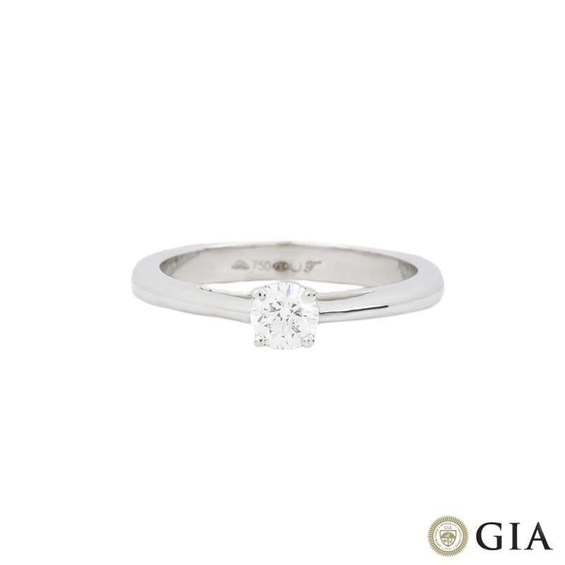 White Gold Round Brilliant Cut Diamond Ring 0.30ct E/VS1 XXX